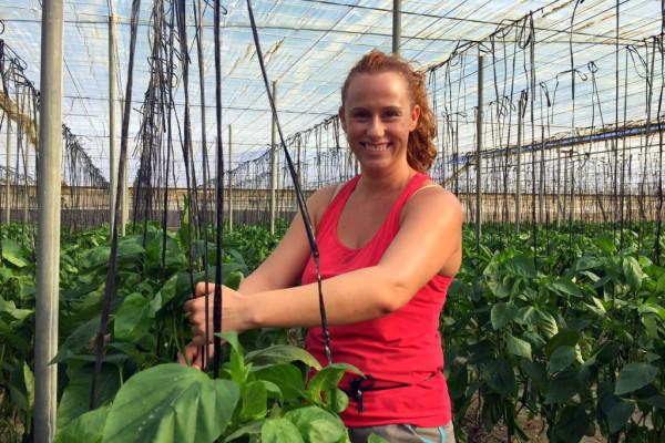 La pasión de Brigida es ver crecer las plantas y observarlas cuando están llenas de vida