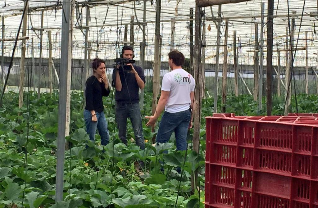 Las verduras ecológicas de Fran son noticia en la televisión suiza