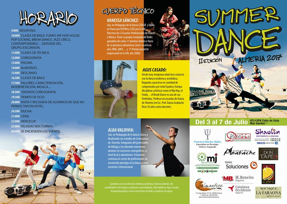 summer dance camp programación